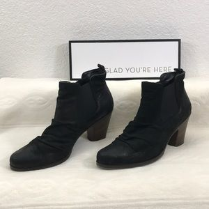 Paul Green Black Leather Ankle Boots US sz 8